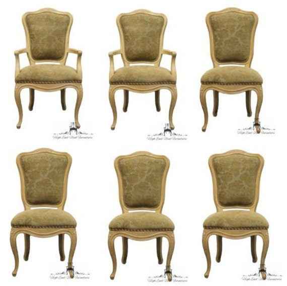 6 HENREDON Versailles Collection Country French Dining Chairs