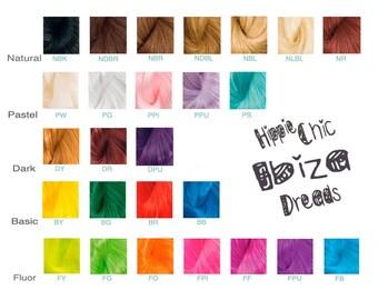 1 Clip-in Human hair dread extension - choose your colour