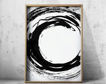 Black and White Prints Abstract Art Prints - Abstract Prints - Abstract Wall Art - Nordic Art- Geometric Wall Art