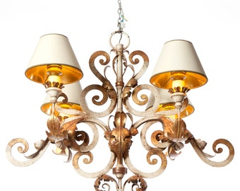 Coldwel | 4 light chandelier | 1900's