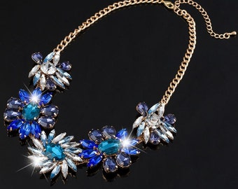 Blue Ivy Crystal Statement Necklace