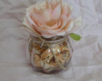 Unique, handmade fragrance diffuser. Gorgeous display item for bath & home. Filled with white Poplar shavings with scented oil. Rustic Décor