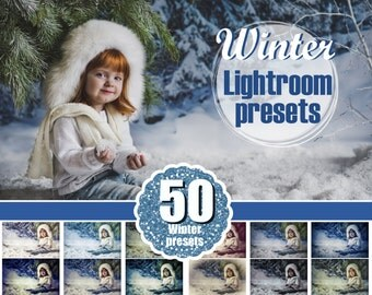 50 winter snow frozen Lightroom Presets, romantic, mini session, holiday, Professional Lr presets, presets for photographers