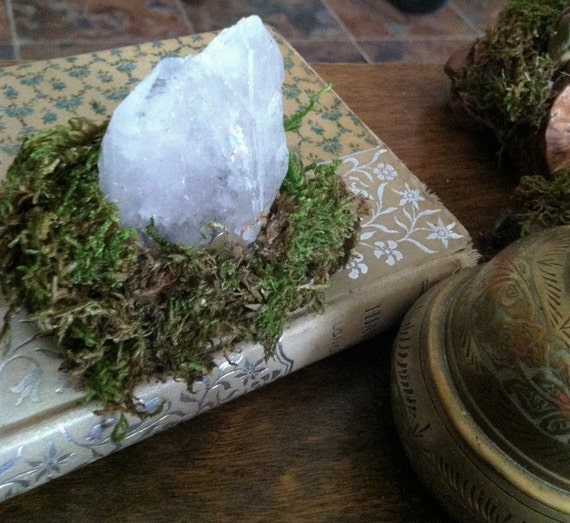 MEDITATION GARDEN, Crystal Cluster Display, Micro Garden, Large RAINBOW Crystal, Shard Crystal, Sedona, Crystal Cluster, Reiki, charged