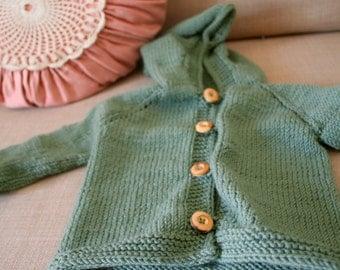 Baby Cardigan organic Merino Wool Darling