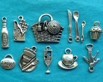 Set of 12 Summertime Picnic Charms