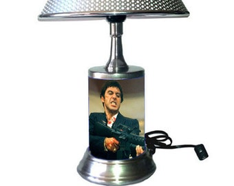 Scarface Lamp with chrome shade