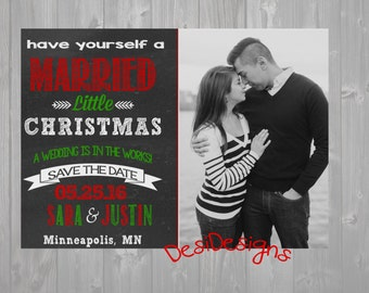 Christmas Save the Date Card Announcement