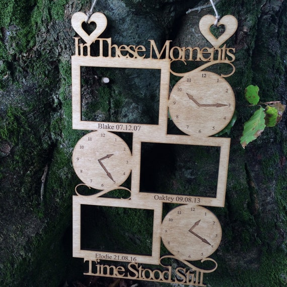 Wooden In These Moments Frame Personalised Birth