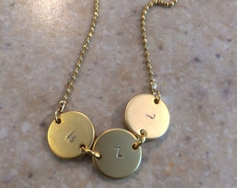 Custom Disc Stamped Disc Necklace