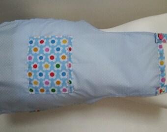 Childrens Handmade Blue Spot Apron, Child, Kids with pocket