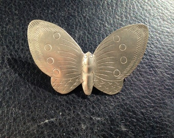 Vintage Silver Butterfly Pin