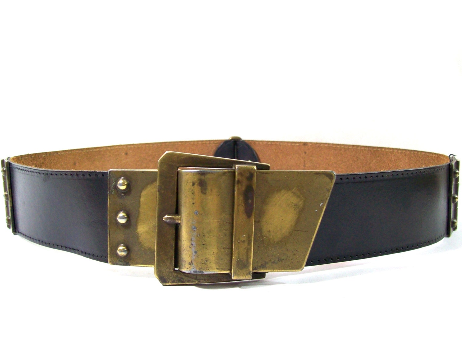 black leather belt womens vintage leather belt