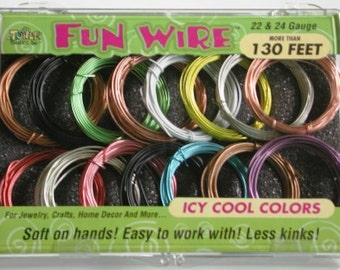 Fun Wire Assortments icy 22 and 24 gauge by Toner Crafts