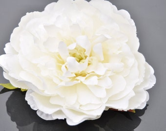 Giant White Peony Artificial, Stemless
