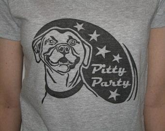 Smiling Pit Bull Dog T-Shirt, Women's Adult Sizes