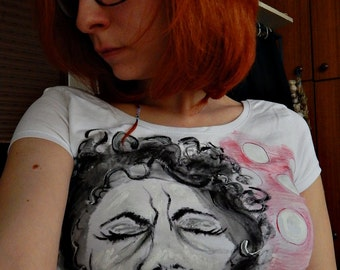 Music T- Shirt, Singer T- Shirt, Black and red, Jazz music, Retro t- shirt