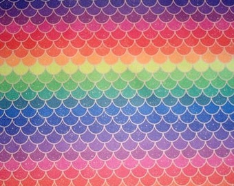 Rainbow Scales Diaper Cover Pocket AIO Cloth Diaper OS Custom Cloth Diaper HTF Print