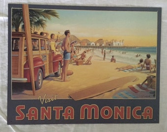 Retro Santa Monica Sign