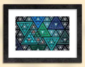 Triangles 2 Abstract Art Print