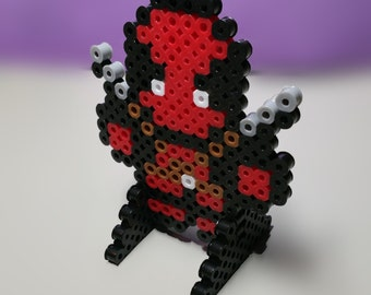 DEADPOOL Character!! Stands up! Made with Perler Beads.