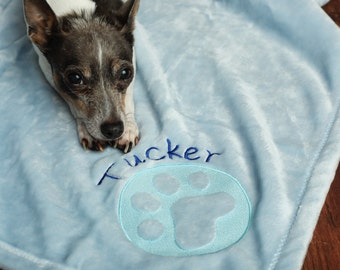 Embossed Personalized Dog Blanket