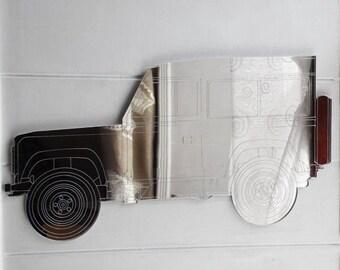 Detailed Engraved Handmade Landrover - DEFENDER Acrylic Mirror