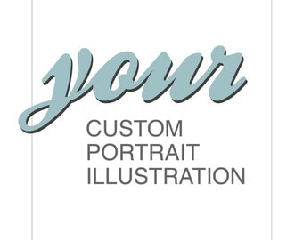 Your CUSTOM PORTRAIT ILLUSTRATION for a profile picture / avatar