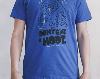 Don't give a hoot men's tee