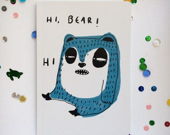 A6 Notebook: HI BEAR!