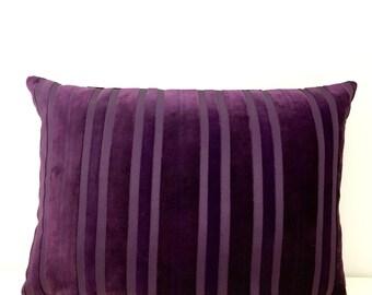 Purple Velvet Pillow Cover, Decorative Pillows, Purple Pillows, Purple Velvet Pillow, Throw Pillows, Purple Velvet Pillow Case Covers 14X20