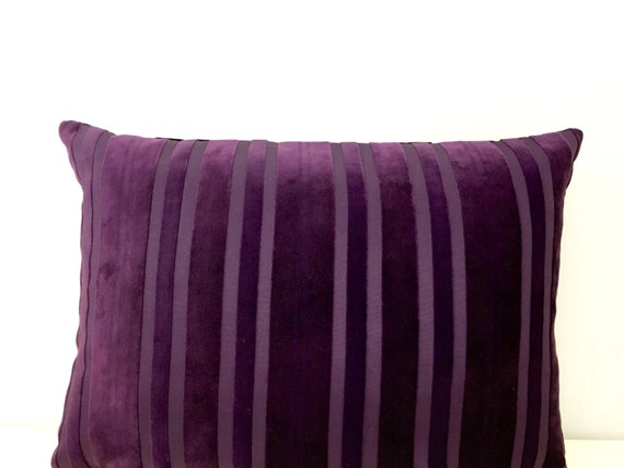 Purple Velvet Decorative Pillows : Purple Velvet Pillow Cover Decorative Pillows by artdecopillow