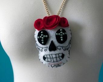 DIA de los muertos pendant for necklace