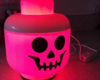 LED Rainbow Lego Lamp - Skull **DISCONTINUED**