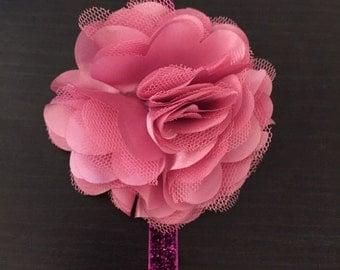 Shimmery pink headband