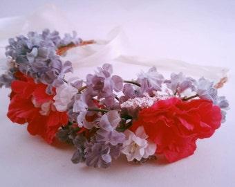 Indigo Pink Flower Crown