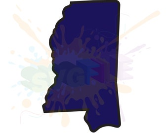 Mississippi SVG Files for Cutting State Cricut Designs - SVG Files for Silhouette - Instant Download