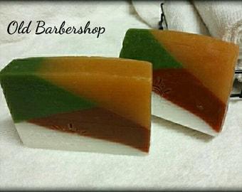 Old Time Barbershop Soap, glycerine soap,Handmade soap, Men's soap, masculine soap,