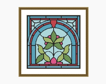 Cross Stitch Pattern, Modern Cross Stitch, NOUVEAU # 3 cross stitch pattern - Downloadable PDF