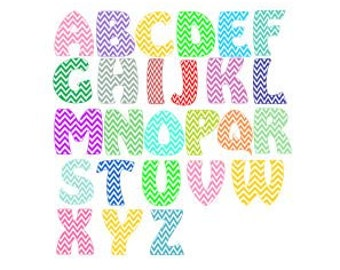 Chevron Alphabet SVG, Studio 3, AI, PS and Pdf Cutting Files for Electronic Cutting Machines