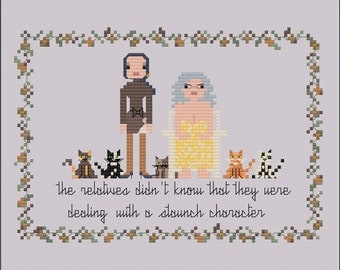 homage to grey gardens the movie (1975) NOT OFFICIAL PRODUCT- pdf digital pattern