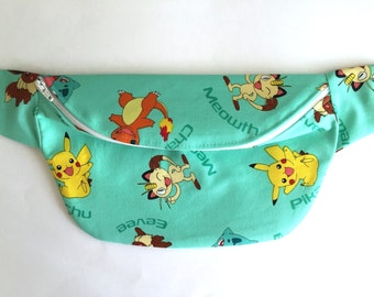 Aqua Pokemon Fanny Pack