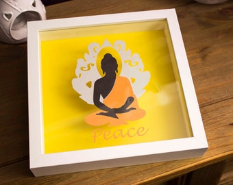 Papercut Buddha shadow frame