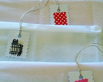 Tags for your details and gifts.  Pack of 6 we make them custom, ask for yours.