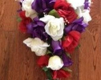 Rose cascading bouquet