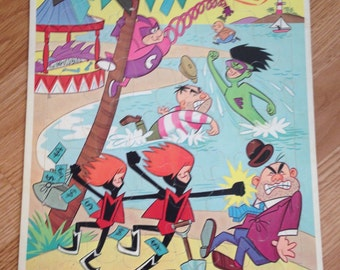 Vintage Hanna Barbera's The Impossibles Frame Tray Puzzle