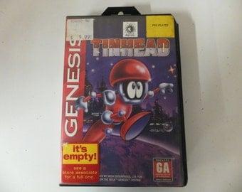 Tinhead Original Sega Genesis Vintage Video Game Complete