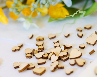 Wooden Hearts Mini Mixed Heart Scrapbook and Card Embellishments