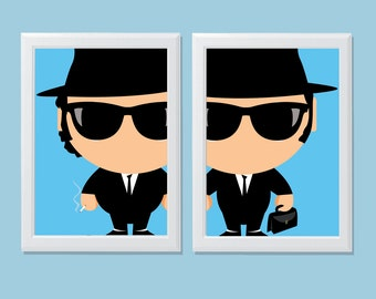 Baby Heroes - The Baby Blues Brothers Digital Print