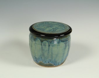 French  Butter Keeper Blue